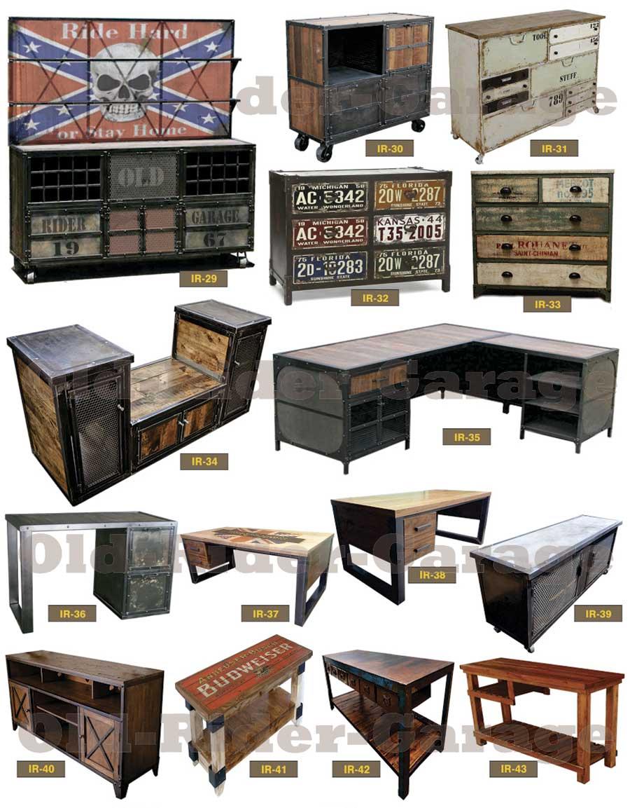 Old rider muebles vintage industriales - Muebles para garage ...
